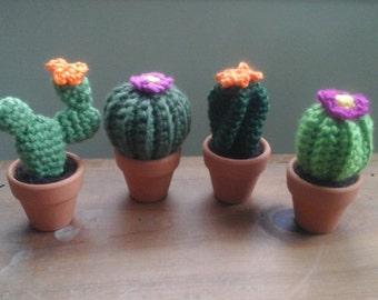 Handmade Stuffed Cactus, Flower Plant Amigurumi, Tiny Cacti Stuffy, Plush Plant, Southwest Amigurumi Gift, Arizona New Mexico Texas Oklahoma