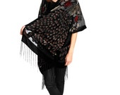 Hippie Boho Gypsy Kimono velvet Brown Velvet Kimono -  Design Gifts for Her