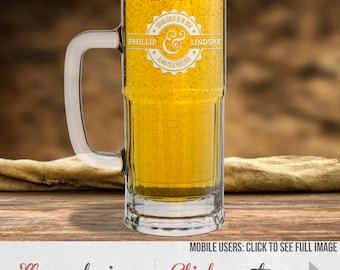 Etched Beer Glass - More Design Options