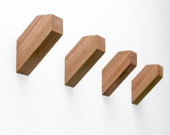 Set of 4 Modern Wall Hooks - High Quality Decor