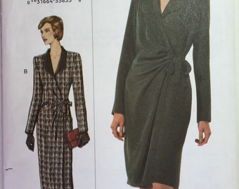 The Vogue Woman 7476 Wrap Dress Pattern sizes 8,10,12 & 20,22,24 uncut from 2001