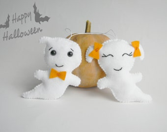 Ghost  felt ornament Cute Halloween ornaments  felt ornaments ghost toy Halloween decor Halloween gifts Party favors