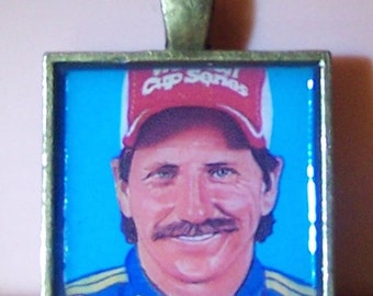 Handmade bezel necklace pendant keychain Dale Earnhardt Sr. Senior matchbook matches