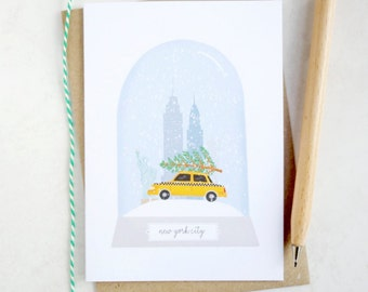 New York City Christmas Card - New York City Card - New York City Snow Globe Card - New York City - Snow Globe Christmas Card - Christmas