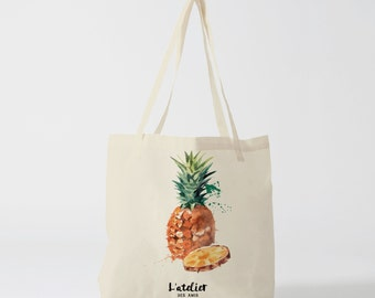 X39Y Tote bag pineapple, canvas bag, shopping bag, bag course, computer bag, bag offer, bag to the market, tote bag