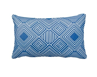 7 Sizes Available: Decorative Pillows Lumbar Pillow Cover Cobalt Blue Pillow Cover Blue Throw Pillows Decorative Pillow Accent Pillows