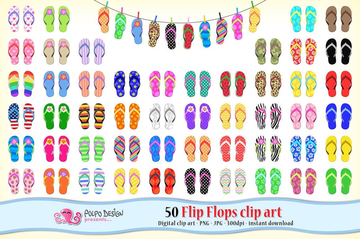 Flip flops clipart   Etsy