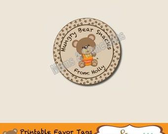 Hungry Bear Snacks Favor Tag