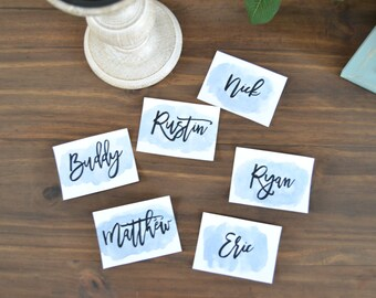 Custom Watercolor Place Cards, Watercolor Name Cards, Seating Cards, Seating Chart, Name Cards, Wedding Seating