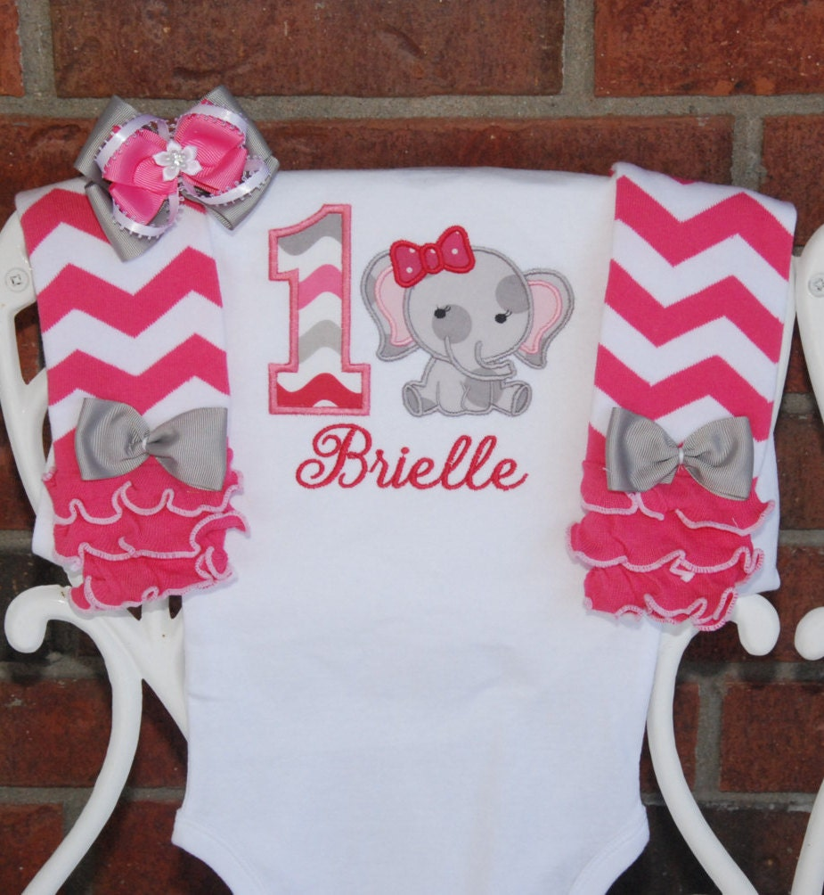 Baby Girl Elephant First Birthday Outfit Baby Girl Birthday