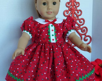 1950's Christmas Dress for Maryellen or Most 18 Inch Dolls