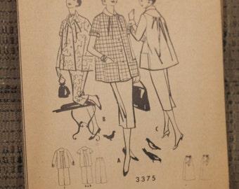 McCall's 1950s Maternity Dress + Skirt - Pattern 3375 - UNCUT- NO Envelope Bust 34