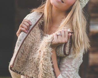 Cream Turban Knit Headband-Ear warmer-Knitted Headband-Valentine Gift-Women's Fall/Winter Fashion Accessory,Stocking Stuffer, Headband