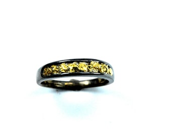 2348-Men's Gold Nugget Band -Promotion 10% Off