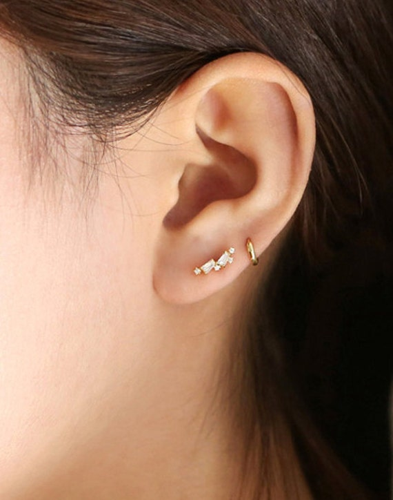 Cz cartilage piercing helix cartilage earrings cz piercing for Helix piercing jewelry canada