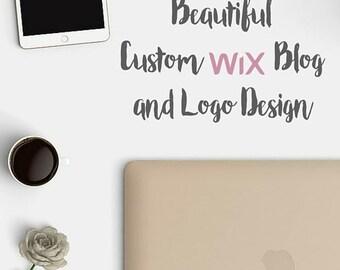 Custom Wix Blog and Logo Design