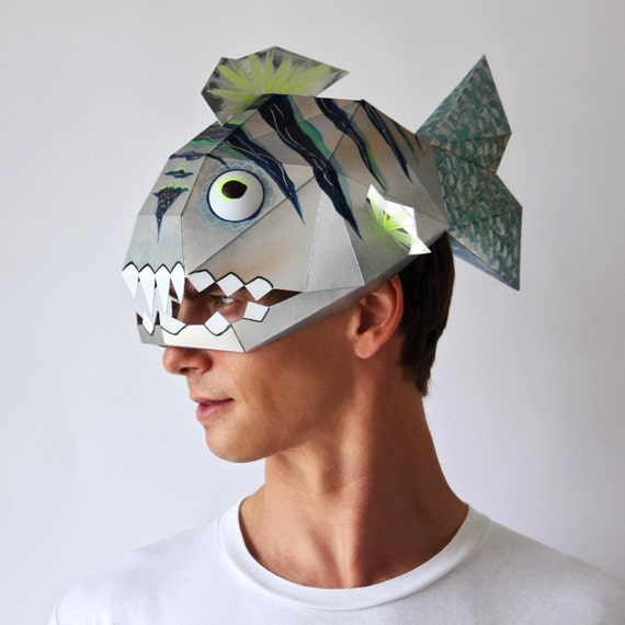Bad Fish Mask Make This Funny Mask From Card Using This