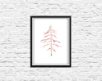 Wall Art Print, Minimalist Art Print, Tree Art, Minimalist Nature Art, Nature Prints, Office Wall Art, Modern Art Print, Contemporary Art