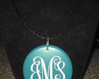 Engraved Monogrammed Necklace