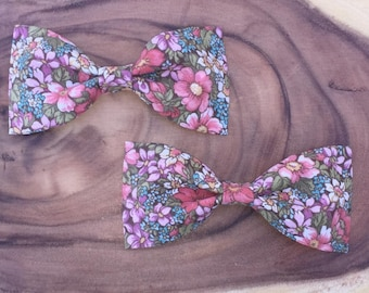 Flower Piper Bow / kids hair bow / clip on bow