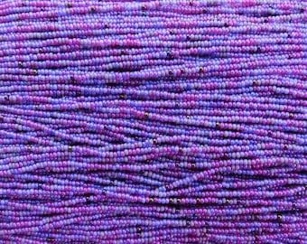 11/0 Sugar Plum Mix Czech Glass Seed Beads 12 Strand Hank (ES25)