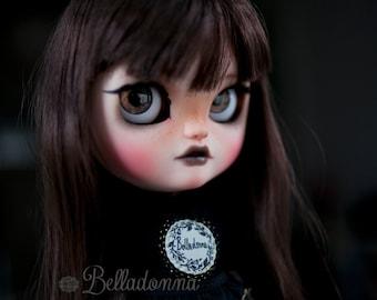 reserved for Crystal - Belladonna - custom ooak Jecci5 doll - blythe doll sister - unique art doll by KarolinFelix