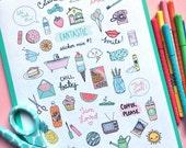 Printable FANTASTIC Sticker MIX #1 - Digital File Instant Download- reminders, life, planner girl, bando, happy planner, 80s, hand drawn