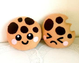 Happy Cookie Plush Cushion, cute cookie plushie, fun cookie cushion, cute home decor, food plush cushion, cookie soft toy, cute kids room