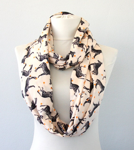 zebra print scarf print infinity scarf by violasboutique