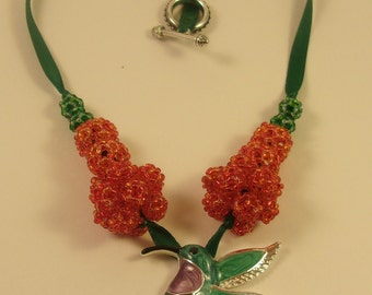 Beaded Hummingbird Necklace