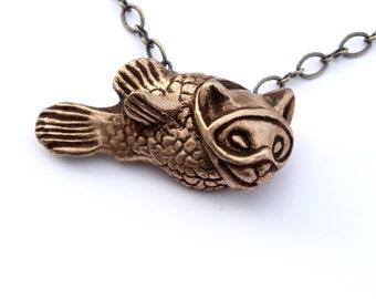 Cat fish surreal catfish pendant