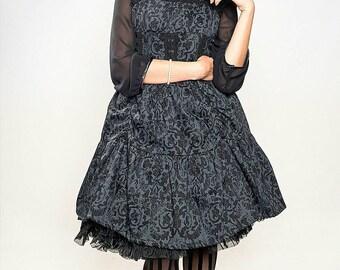 SALE:  Damask Gothic Lolita JSK, Steampunk Dress, Goth Dress,  Mourning, Ready to ship