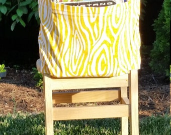 Chair Pockets // Yellow Willow // Seat Sacks // Teacher Classroom Organization <<16 inch VALUE>>  End of Year SALE CoffeeKidsNDolls