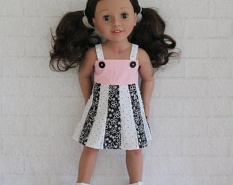 "Pink Black White Summer Panel Dress Dolls Clothes for 20"" Australian Girl dolls"
