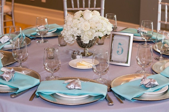 Wedding Table Numbers Beach Wedding Decor By SeashoreSecrets
