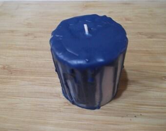 Drip Candles, Blue Drip Candles, Decorative Candles, Decorative Pillar Candles, Boho Candles, Fun Candles, Blue Candles
