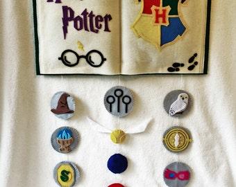 Felt Harry Potter Wall Hanging, Nursery, Bedroom Decor, Geeky Gift