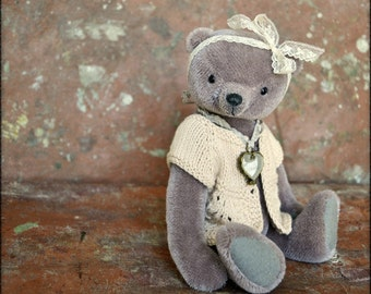 SALE 35%Artist Teddy Bear Galya 9,5 inches OOAK NadyaBears Artist Teddy Bear Mohair Animal Toys