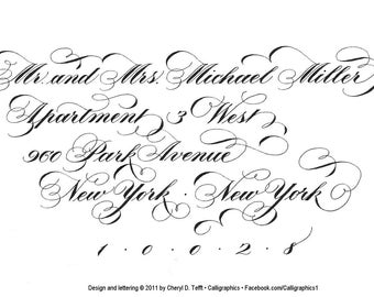 Calligraphy--addressing for invitations