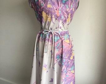 1960's femme dress | botanical blooms