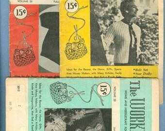 1955 The Workbasket Magazine, 3 Issues: Feb 1955, May 1955, Jun 1955 - Vintage The Workbasket Magazine Issues