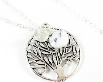 Tree Necklace, Silver Tree Necklace, Tree of Life Pendant Necklace, Woodland Jewelry Nature Jewelry Earthy Jewelry Outdoor Gift Nature Lover