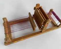 Vintage Child Wooden Loom,Vintage Small Bulgarian Table Loom,