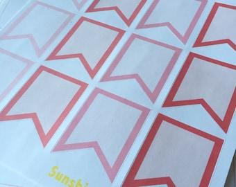 Erin Condren February Themed Full Box Flags- Planner Stickers