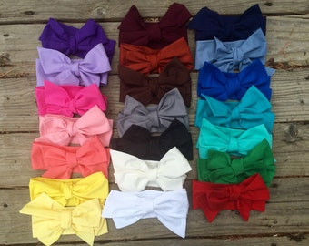 Solid Color Headwrap, Baby Headwrap, Headband, Big Bow Headband, Toddler Headwrap, White, Pink  Headwrap, Headwrap, Baby Girl Headwrap, Prop