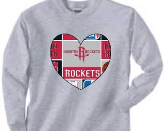 Long Sleeved Houston Rockets Shirt