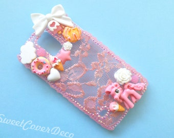 Galaxy S5 - Pink lace phone case