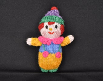 Children's Knitted Plush Toy - Clown (Small)