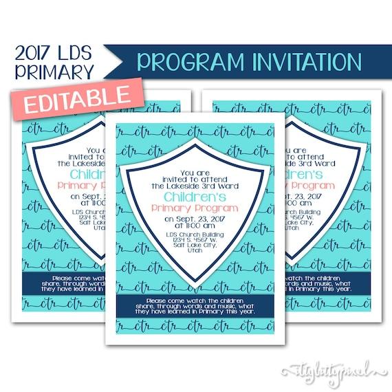 Primary Sacrament Meeting Program | just b.CAUSE