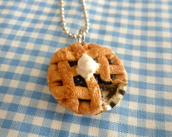 Blueberry Pie Miniature Food Jewelry Dessert Jewelry Bakers Gifts